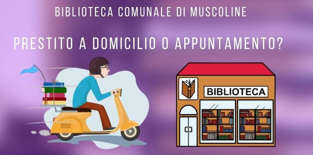 BIBLIOTECA COMUNALE DI MUSCOLINE - PRESTITO A DOMICILIO O APPUNTAMENTO?