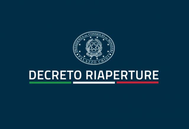 DECRETO LEGGE 18 MAGGIO 2021, n. 65 - DECRETO RIAPERTURE