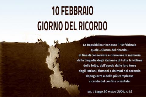 10 FEBBRAIO - GIORNO DEL RICORDO FOIBE